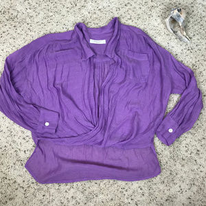 Women's M Lucy Love Long Sleeve Blouse